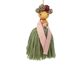 VIVA LA FRIDA! Limited edition Little Edie Beady x Peggy Dollface collab. Frida Kahlo bright wall décor, frida doll, play room décor