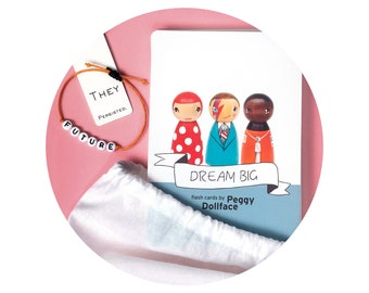 Flash Cards: DREAM BIG inspirational people, role model flashcards, icons in history, painted peg dolls, social history flash cards