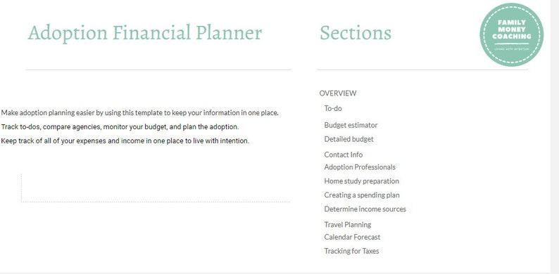 Adoption Financial Planner image 1