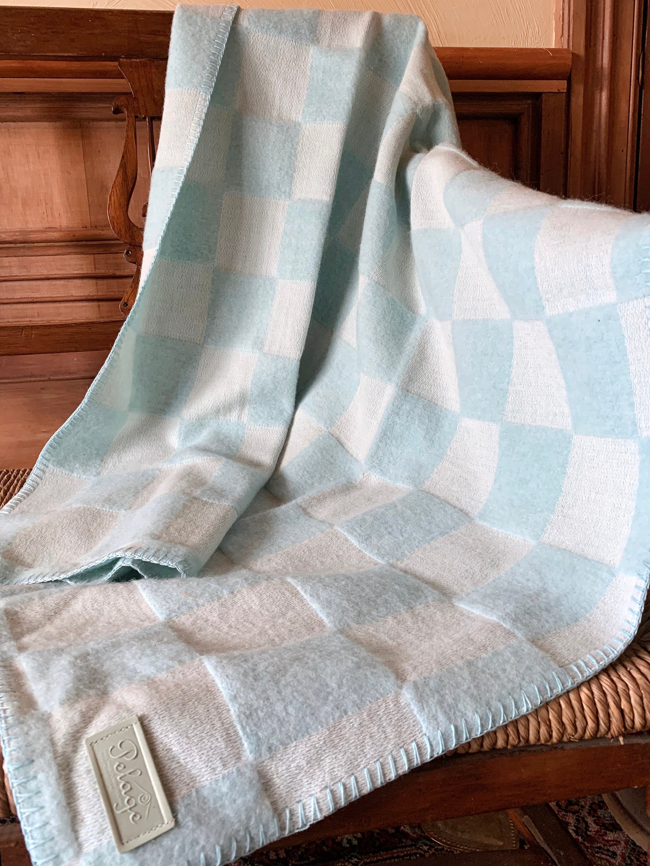 100% Merino Lambswool Mint Throw Nouvelle-Zélande Made