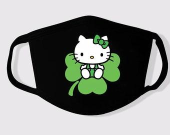 Hello Kitty shamrock hair bow