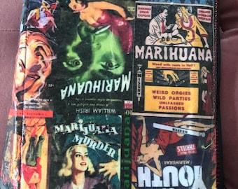 Pulp-fiction style personal organizer--Marijuana theme