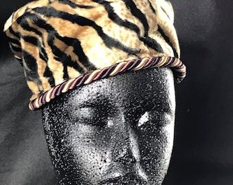 Tiger stripe pillbox hat