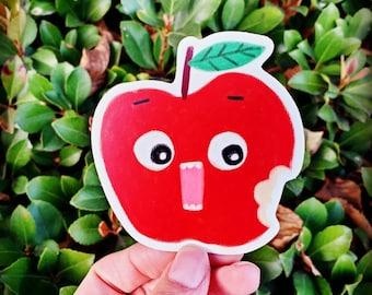 Handmade Apple Waterproof Vinyl Sticker