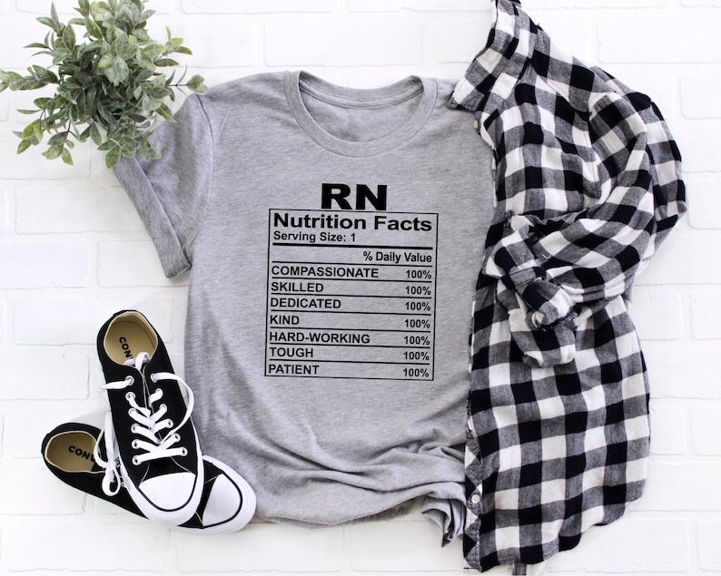 Gearhuman – RN Nurse Shirt Registered Nurse Shirt Nutrition Facts Nurse  –  Tshirt
