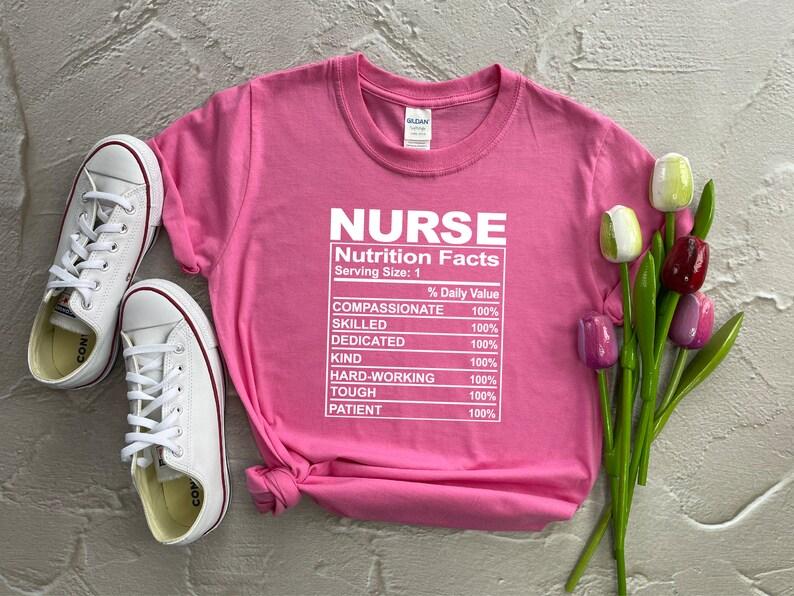 Gearhuman – Nutrition Facts Nurse Shirt Nurse Definition Shirt Nursing  –  Tshirt