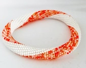 Orange Crochet Bangle Bracelet | 20 cm | Hooked By Adinda