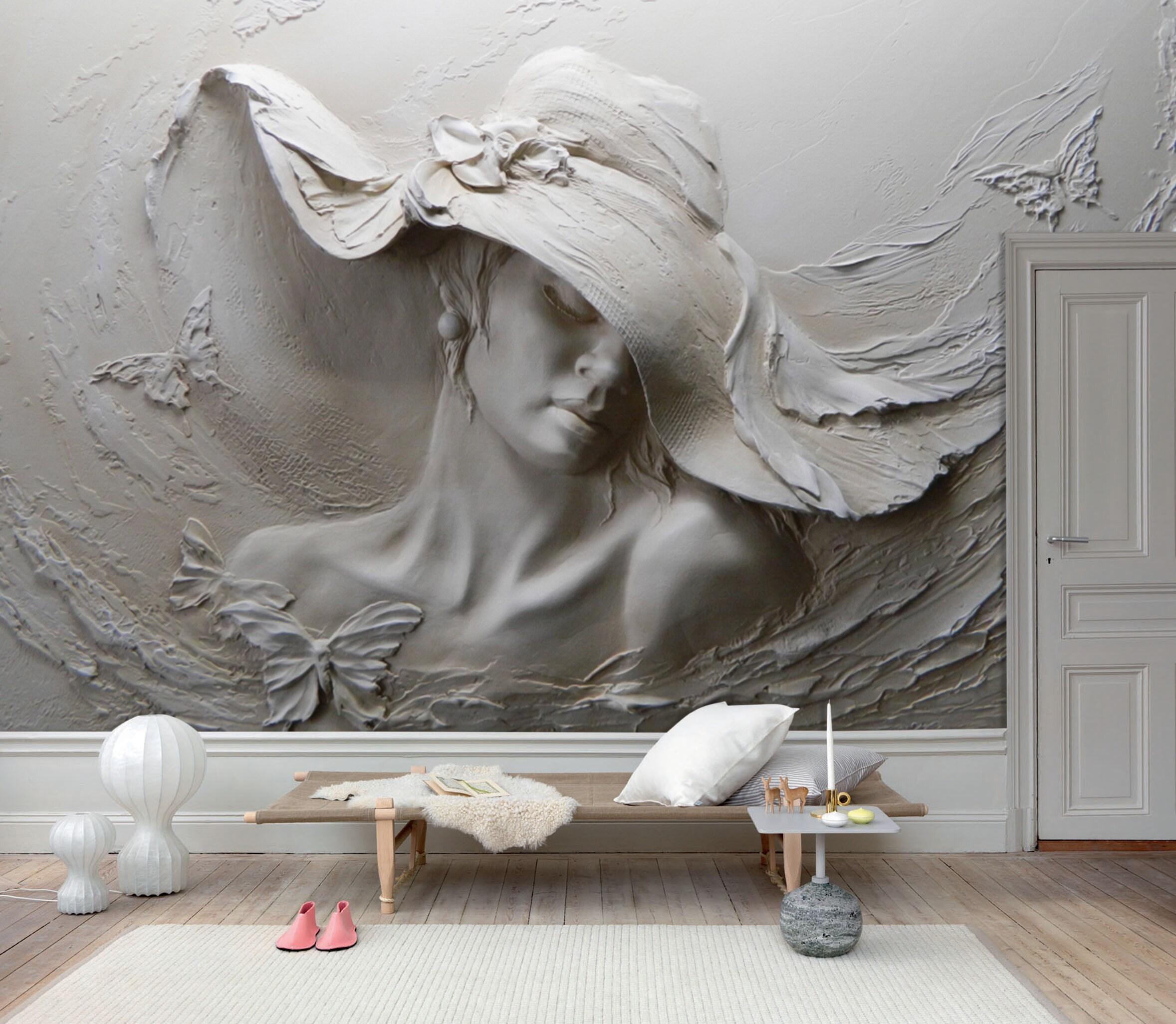 3d Woman Wallpaper Modern 3d Wall Mural Living Room Peel And Etsy