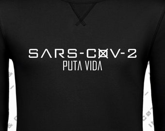 100% cotton SWEATSHIRT, SARS model. Grey/Black.