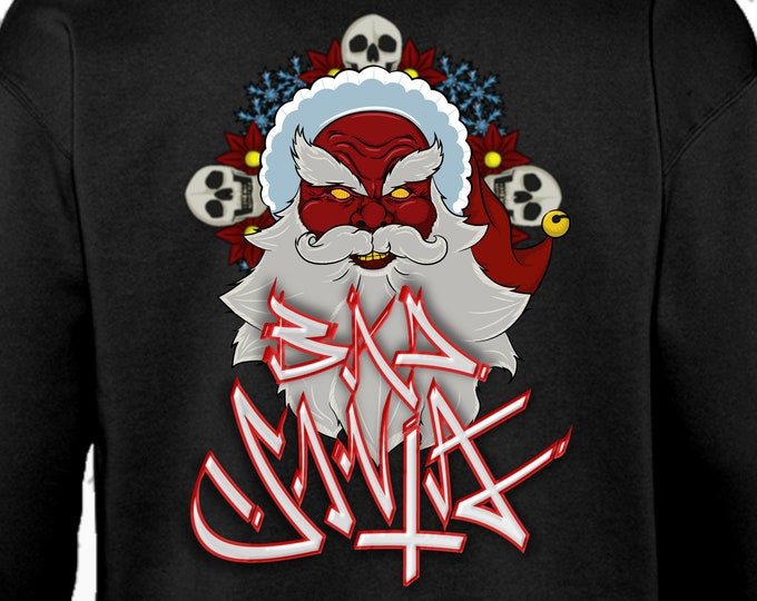 Featured listing image: FREE SHIPPING- Special Christmas - Bad SANTA-Hoodie.