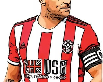 Billy Sharp T-Shirt Blades SUFC Sheff United Sheffield United Always Be..