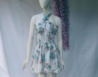 Short dress, floral dress, wheel dress, women's dress, holiday dress, occasion dress, sundresses dress, sexy dress
