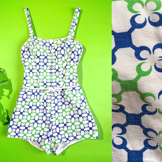 S 1950s swimsuit romper