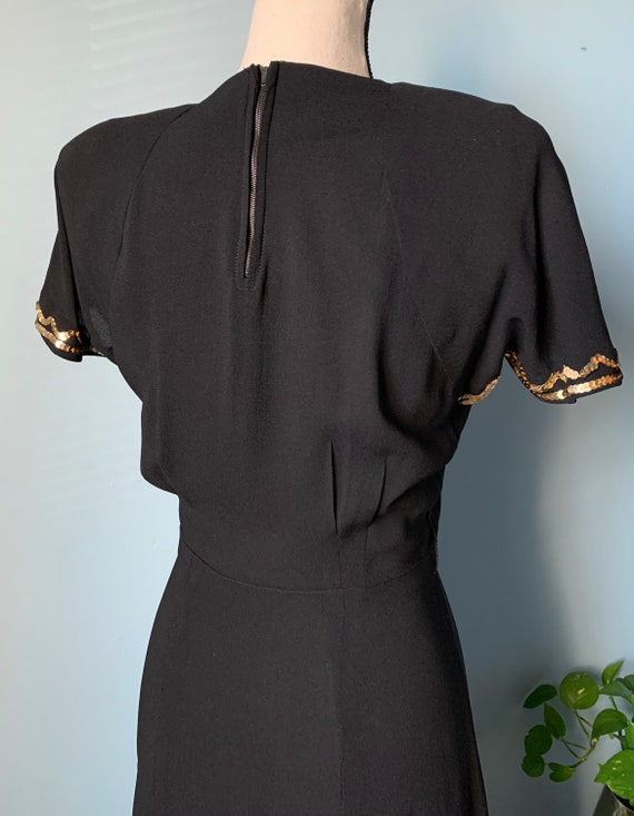 S 40s Rayon Dress with Sequins - image 6