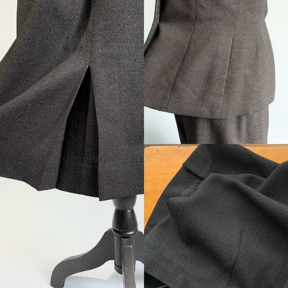 S 1940s charcoal gray jacket skirt suit - image 6