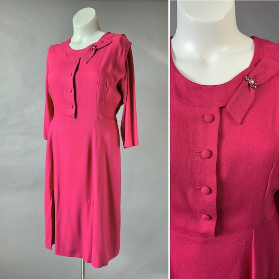 40s Rayon Dress XL