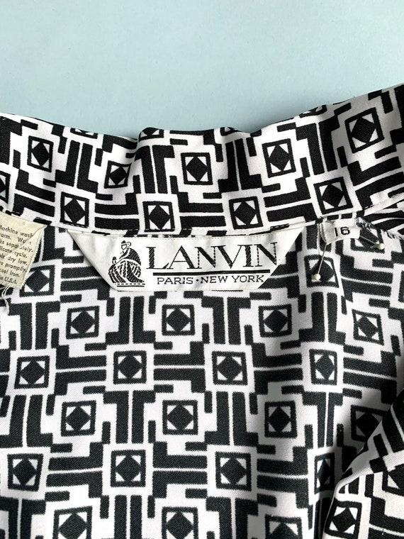 L 70s vintage Lanvin logo dress - image 6