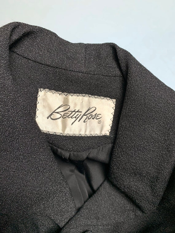 S 1940s charcoal gray jacket skirt suit - image 9
