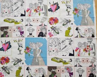 "Alexander Henry - "" A Ghastlie Gush"" Panel 0.60 m x 1.14 m"
