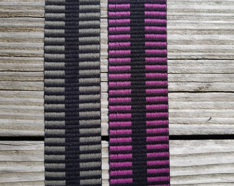 Webbing 40 mm striped , with 2 different sides, 1 meter, 2 colors