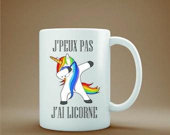 Ideal ceramic gift mug, I can I unicorn