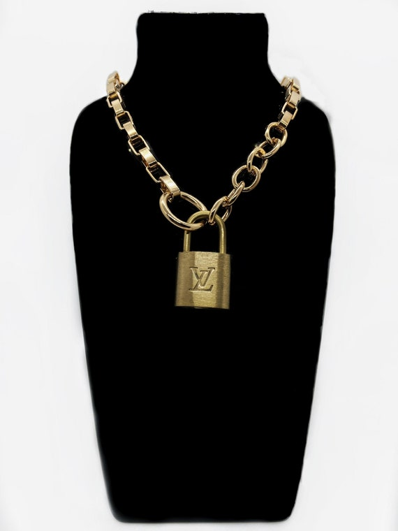 Repurposed Louis Vuitton Lock Necklace with 2 keys