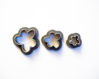 Polymer Clay Cutter   Organic Flower Abstract Shape   Clay Tools   Polymer Clay Cutter set   Shape Cutter   Unique clay cutter   Earring