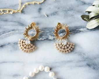 GATSBY Gold Art Deco Earrings