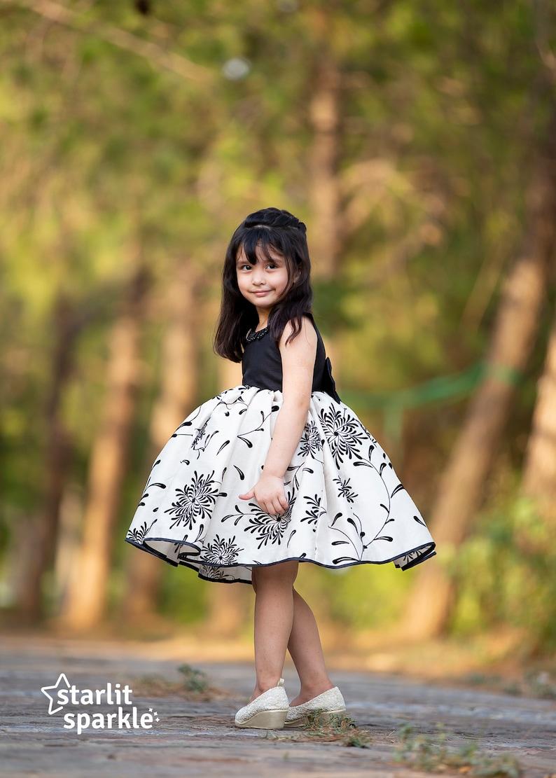 GirlsToddler Black and Beige dress