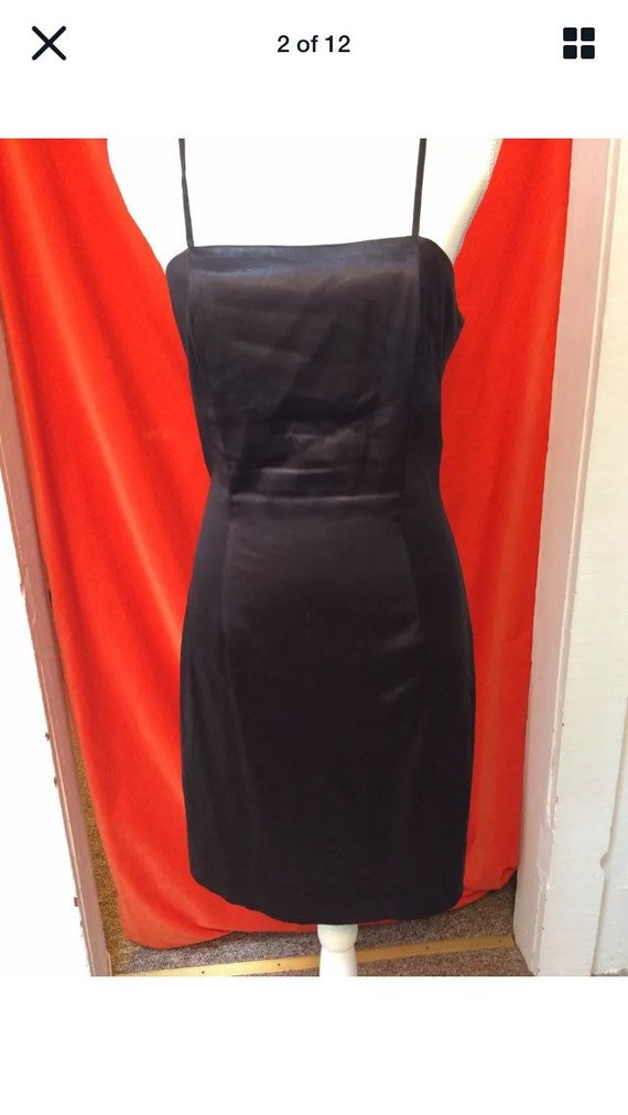 Stephen Sprouse 80s Satin Mini Slip Dress Raisin S