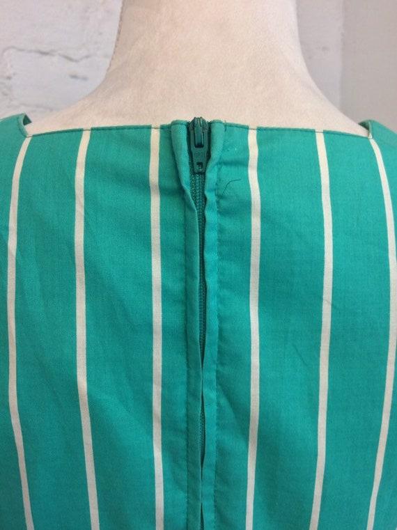 Laura Ashley Vintage 90s Tie Waist Midi Dress Gre… - image 6