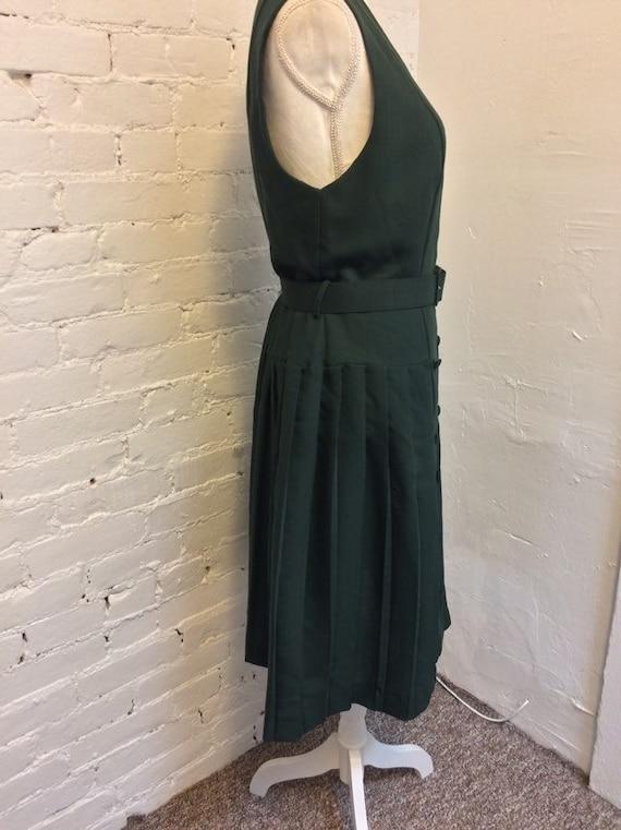 Laura Ashley Vintage 90s Sleeveless Dress Pleated… - image 3