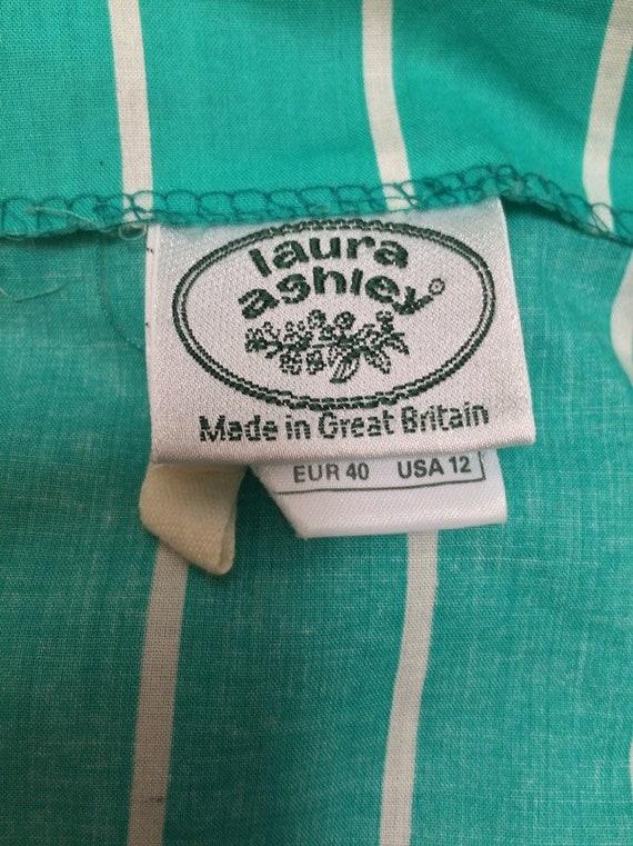 Laura Ashley Vintage 90s Tie Waist Midi Dress Gre… - image 7