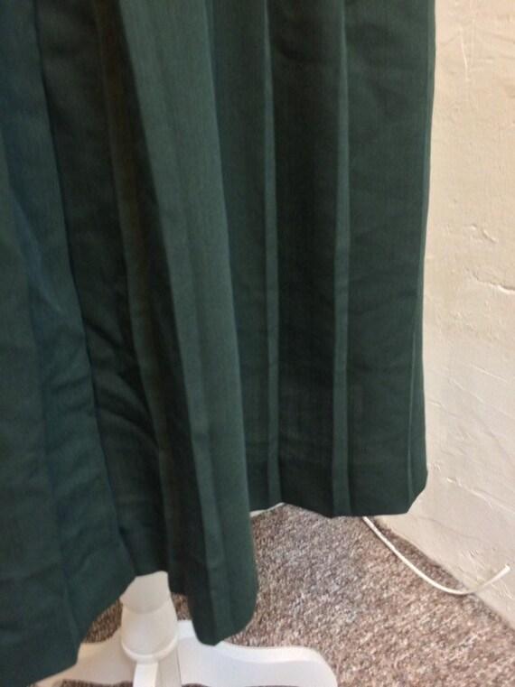 Laura Ashley Vintage 90s Sleeveless Dress Pleated… - image 9