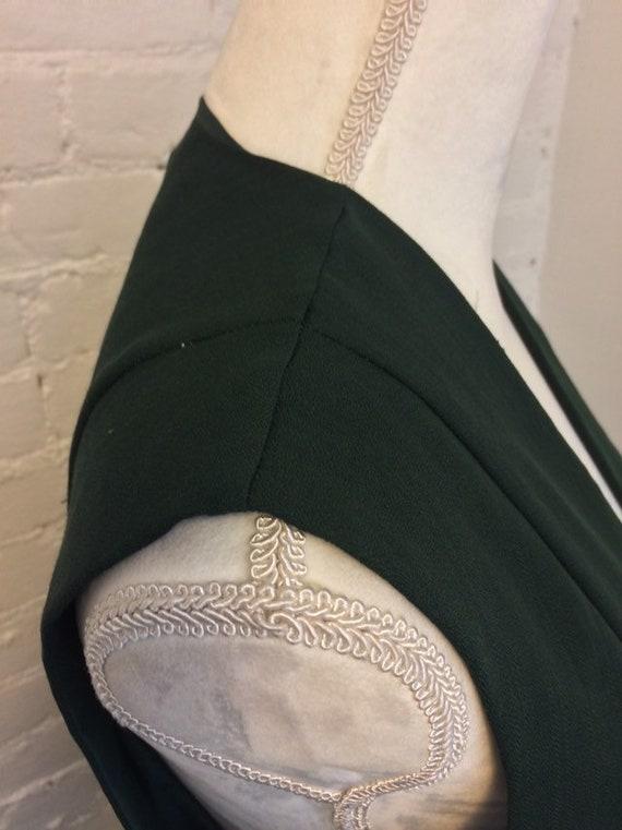 Laura Ashley Vintage 90s Sleeveless Dress Pleated… - image 4