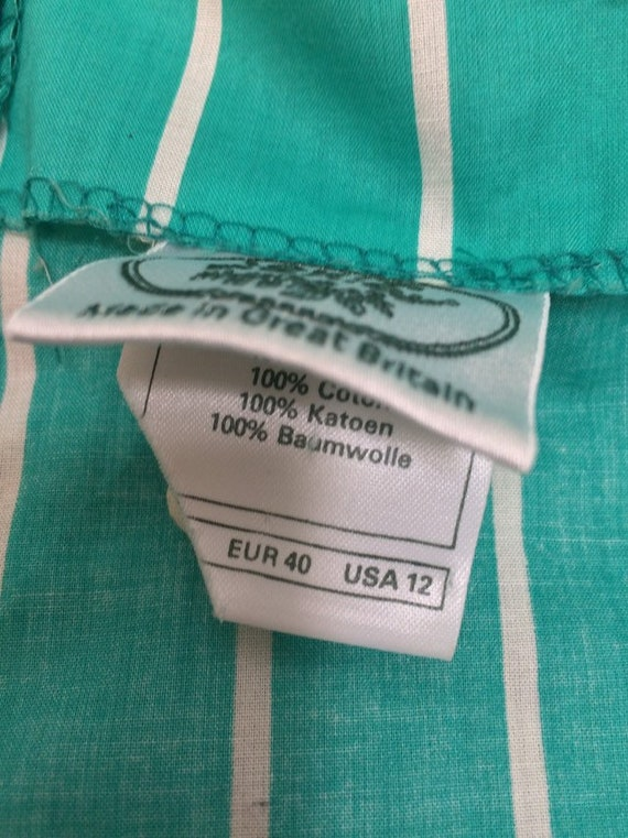 Laura Ashley Vintage 90s Tie Waist Midi Dress Gre… - image 8