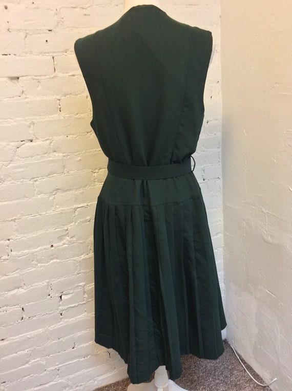Laura Ashley Vintage 90s Sleeveless Dress Pleated… - image 6