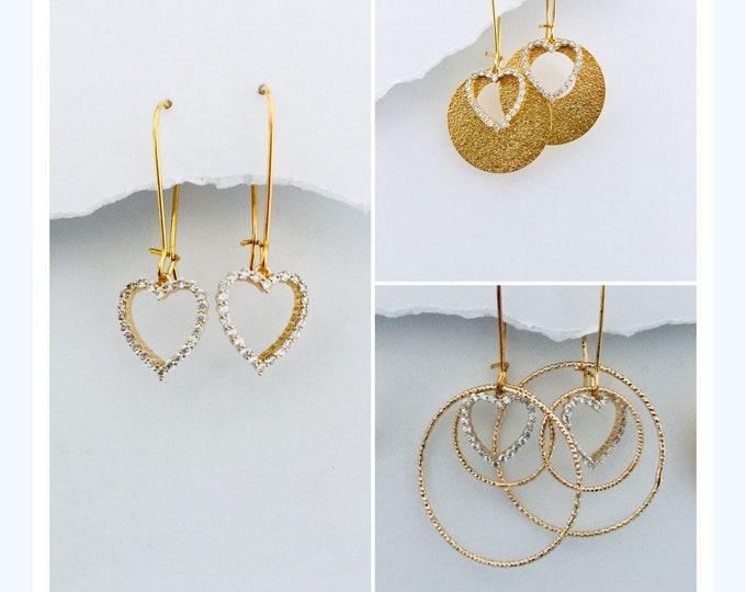 Gold Valentines Heart Sets - 3 different sets- you choose