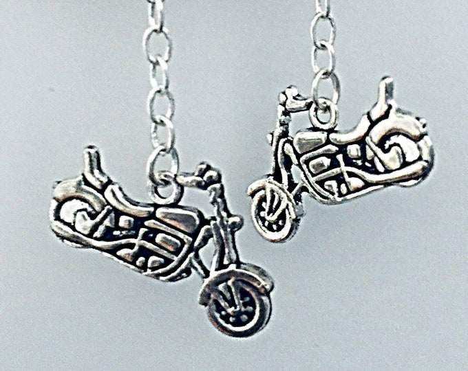 Motorcycle Earrings Set, Long- Interchangeable,  motorcycle charms and more