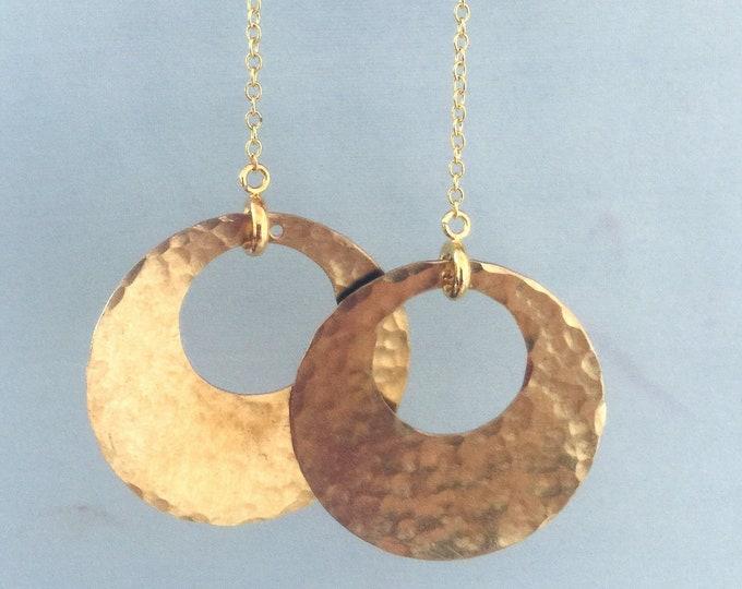 Hammered Gold Earrings Set, Interchangeable, Handmade, 30 earring designs