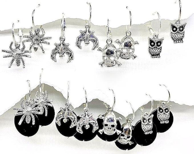 Halloween earrings, Halloween Earring Set, Small, Interchangeable Halloween earrings, Scary Halloween