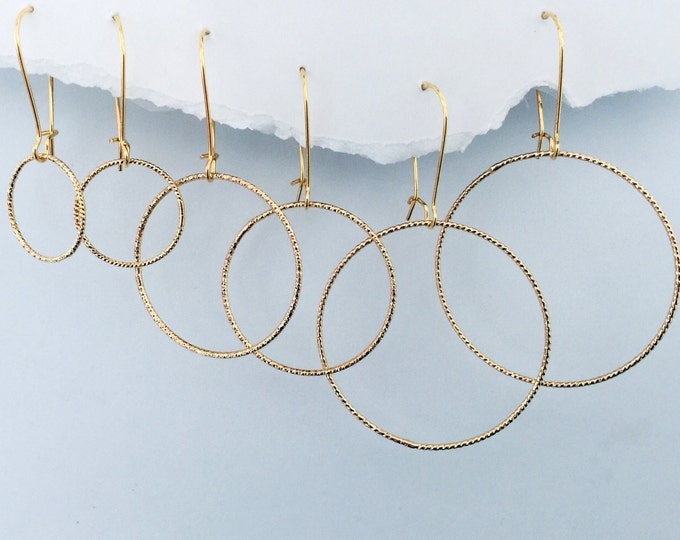 Golden Circles Earring Set- Interchangeable Gold and Rose Gold Drops create multiple earring designs