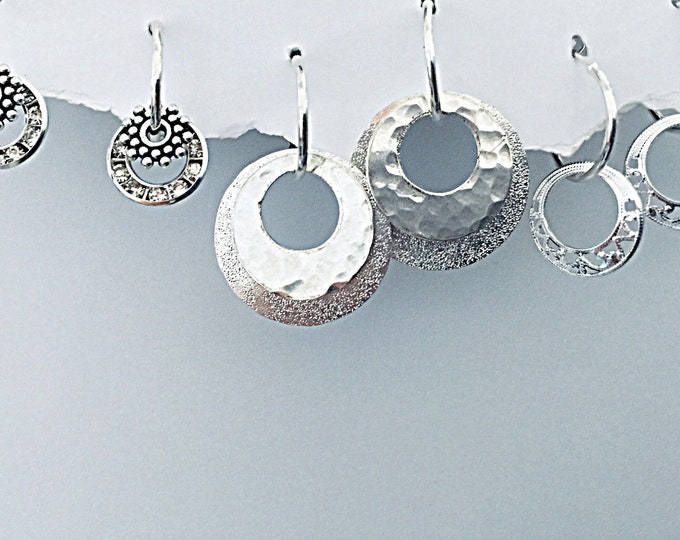 Circle Starter Earring Set - Interchangeable small classy earrings. makes over 30 designs