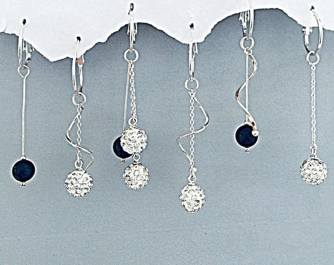 Earring Set w Curly Q's - Interchangeable, dangle, dressy, over 13 earring designs