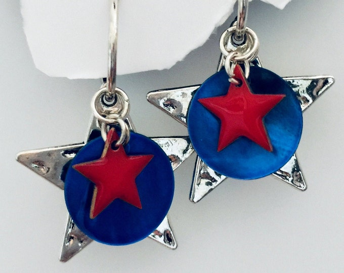 Patriotic Earring Set- Interchangeable, USA jewelry