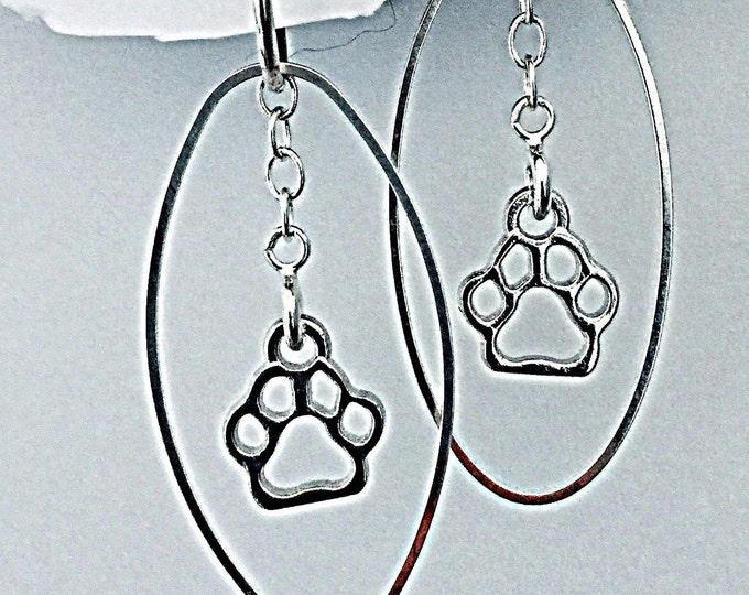 Interchangeable Pet Earring set - Dog earrings, cat earrings, hearts and ovals