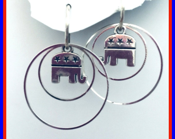 Republican Earrings- Trump support, Vote, Elephant, Election Earrings 3 pair set