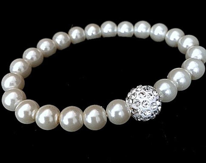 Glitz Pearl Bracelet