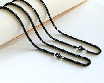 1.2 mm  Ball Chain Finished Chain Black Necklace Chain Jewelry Supplies Dainty Chain