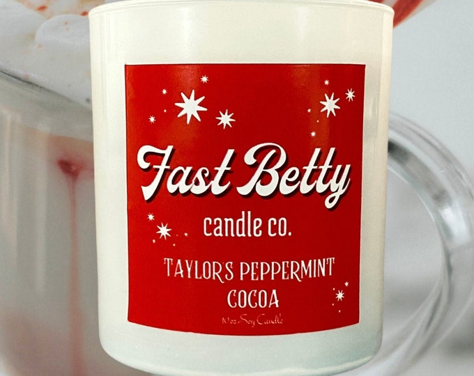PEPPERMINT COCOA | soy candle | hot chocolate | peppermint | Christmas candle | Holiday collection | Christmas gift
